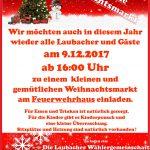 Einladung: Laubacher Weihnachtsmarkt 2017