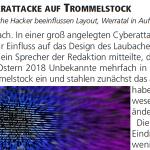 Trommelstock 73 - Cyberattacke auf Trommelstock