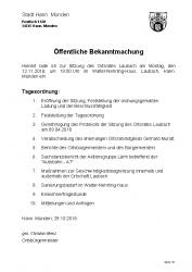 2018-10-29 Sitzung Ortsrat Laubach 12.11.2018