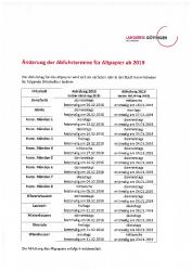 2018-12-04 Änderung Abfuhrtermine Altpapier