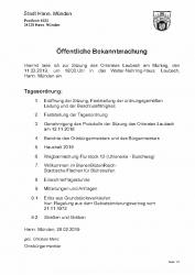 2019-02-28 Einladung Ortsratssitzung