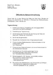 2019-04-25 Sitzung Stadtrat